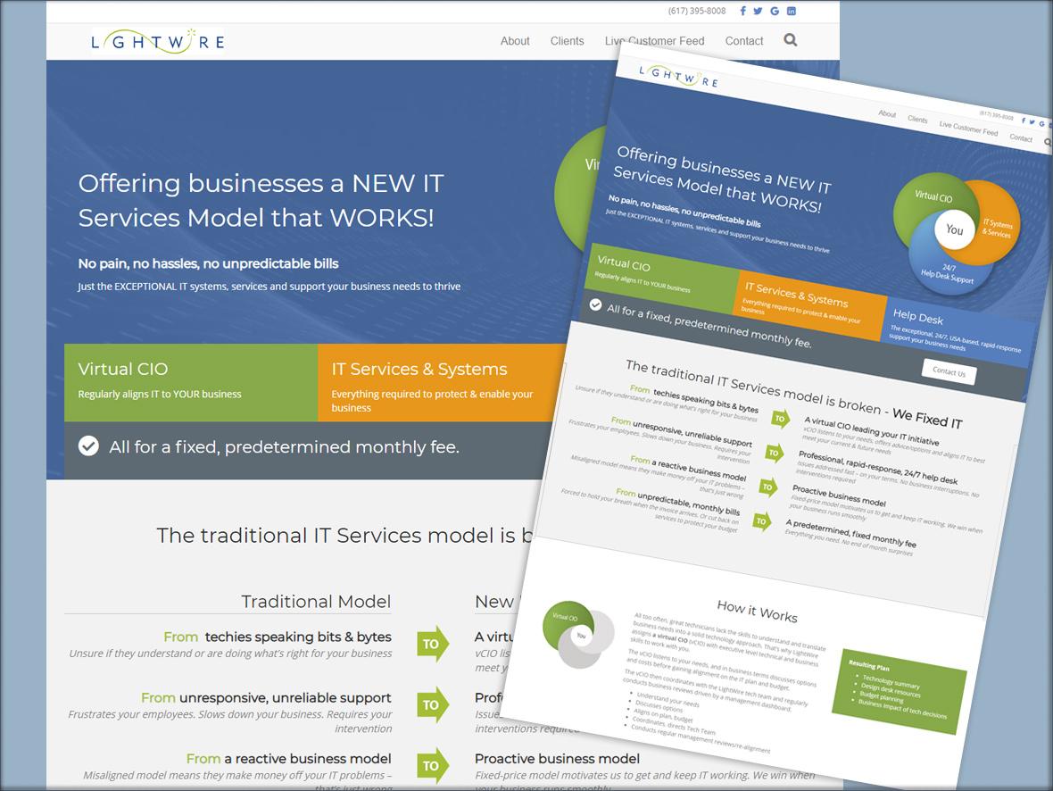 lightwire website design by swimming aardvark